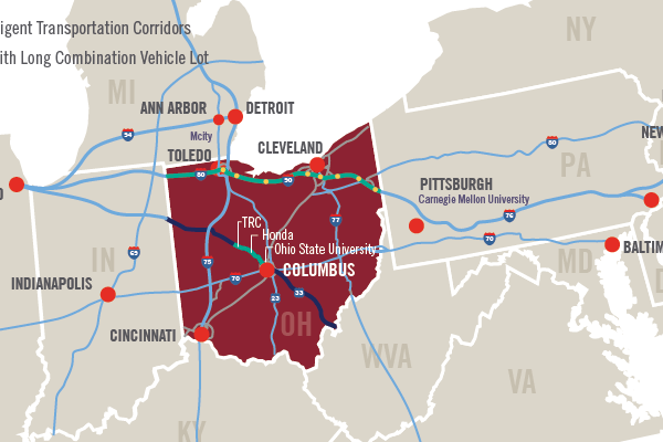 Self-driving vehicle testing expands on Ohio's Smart Mobility Corridor via new partnership