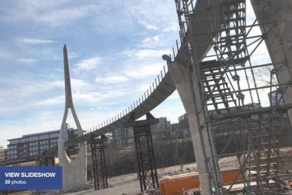 Dublin construction update: New library, pedestrian bridge + drone photos of Bridge Park (slideshow)