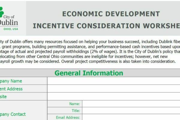 Dublin Incentive Worksheet